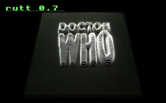 Original Dr Who title sequence Rutt stylee