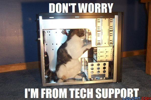 Don't worry i is from tech support