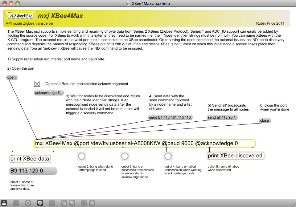 Maxhelp for XBee4Max