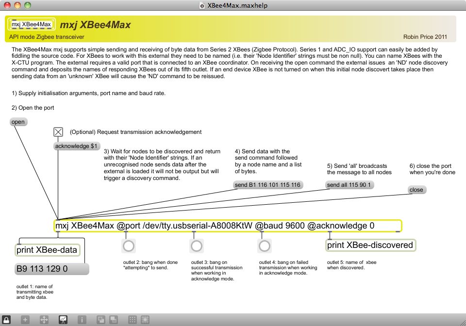 Tool: XBee4Max   Cycling '74